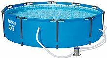 Bestway Steel Pro Frame Pool Set mit Filterpumpe, 305 X 76cm