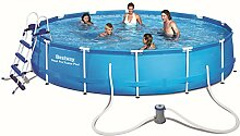 Bestway Steel Pro Frame Pool Set mit Filterpumpe +