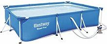 Bestway Steel Pro Frame Pool Set rechteckig, mit