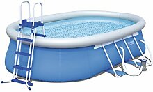Bestway Steel Pro Oval Frame Pool  Set mit