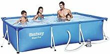 Bestway Steel Pro Splash Frame Pool Set mit Filterpumpe, 300 x 201 x 66cm
