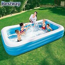 Bestway Swimmingpool 3,05 x 1,83m Schwimmbecken Kinder Pool Garten Familienpool Planschbecken