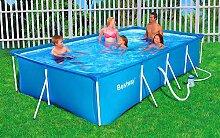 Bestway Swimmingpool 399x211x81 cm Komplett-Set mit Pumpe und Filter
