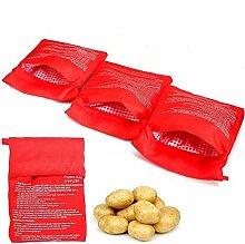 BESTZY 4Stück Mikrowellen Kartoffelbeutel,