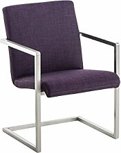 Besucherstühle, Konferenzstuhl, Wartezimmerstühle, Esszimmerstuhl, Stühle, Stapelstuhl, Küchenstuhl, Wartestuhl, Messestuhl Stoff lila #Java