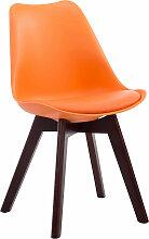 Besucherstuhl Borneo V2 Kunstleder-orange-Walnuss