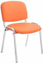 Besucherstuhl Ken Chrom Kunstleder-orange