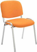 Besucherstuhl Ken Chrom Stoff-orange