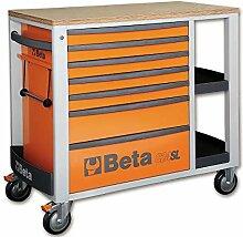 Beta 024002431 Rollwagen, 7 Schubladen, Orange