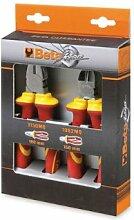 Beta-Werkzeuge 1169MQ/D21177–1184Kombizange und Isolierter Diagonal Schneiden Nagelzange–Schwarz/Orange (Set von 2)