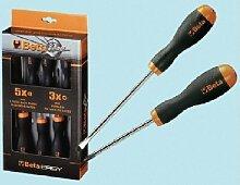 Beta Werkzeuge 1203/D8P Schraubendreher in–Schwarz/Orange (8Stück)