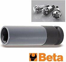 Beta-Werkzeuge 720MRC Stecknüsse für Mercedes Radschrauben–Schwarz/Orange