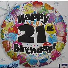 Betallic 21. Party Geburtstag Folienballon,