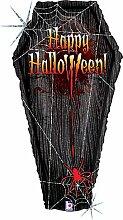 Betarly 85775 Folienballon Happy Halloween Sarg,