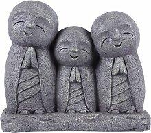 betend Lucky Japanische Jizo Familie Statue