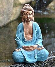 Betende Buddha Statue Groß, frostsicher und wetterbeständig 28x 22 x 43 cm, Einfach ansprechend