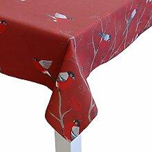beties Beeren Vögel Tischdecke ca. 140x220 cm in interessanter Größenauswahl im Landhausstil reine Baumwolle Farbe (Marsala)