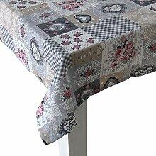 beties Dorfkinder Tischdecke ca. 130x280 cm in großer Sortiments- und Größenauswahl - Shabby Chic für den perfekten Landhaus Style Farbe (silber-mauve)
