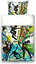 beties Graffiti Skateboard Wende-Bettwäsche-Set 2