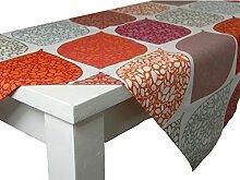 beties Momente Tischdecke ca. 130x220 cm in interessanter Größenauswahl hochwertig & angenehm 100% Baumwolle Farbe (bohemian mohn)