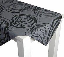 beties Mystik Tischdecke ca. 130x170 cm in interessanter Größenauswahl hochwertig & angenehm 100% Baumwolle Farbe (Platin-Schwarz)