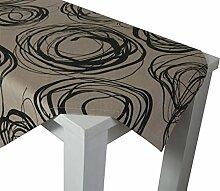 beties Mystik Tischdecke ca. 130x170 cm in interessanter Größenauswahl hochwertig & angenehm 100% Baumwolle Farbe (Toffee-Schwarz)