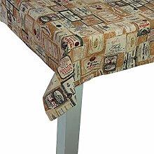 beties Rustika Tischdecke ca. 130x190 cm in großer Artikel-Auswahl für den gemütlich-rustikalen und zeitlos-modernen Einrichtungsstil Farbe (camel-burgund)