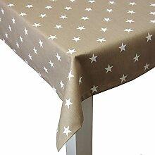 beties Sternchen Tischdecke ca. 110x110 cm in interessanter Größenauswahl 100% Baumwolle hochwertig & angenehm Farbe Taupe