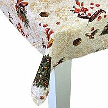 """beties """"Weihnachts-Stimmung"""" Tischdecke ca. 130x220 cm in Größen- und Farbauswahl, weihnachtliches Ambiente (elfenbein)"""