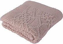 Betires Home Babydecke rosa 90 x 90 cm