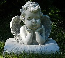 Beton Figur Engel Büste H 22 cm Dekofigur und Gartenskulptur