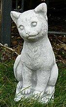 Beton Figur Katze Klein sitzend H 24 cm Dekofigur