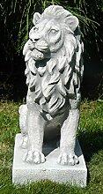 Beton Figur Löwe rechts blickend H 35 cm Dekofigur und Gartenskulptur