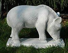 Beton Figur Wildschwein Frischling H 24 cm Dekofigur und Gartenfigur