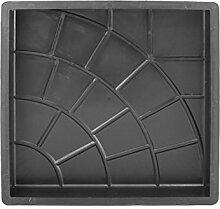 Beton PP Gießform - Schalungsform - Bodenplatte - Betonform - Terrassenplatte - Gehwegplatte in Kreisoptik - Kreis