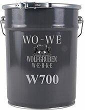 Betonfarbe Bodenfarbe Bodenbeschichtung | WO-WE W700 | Garagenfarbe, Kellerfarbe, Fußbodenfarbe für Beton, Zement, Holz, Metall | Farbe für Außen und Innen - Tomaten-ROT ähnl. RAL 3013 - 5 Liter