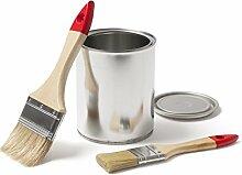 Betonfarbe Bodenfarbe Bodenbeschichtung | WO-WE W700 | Garagenfarbe, Kellerfarbe, Fußbodenfarbe für Beton, Zement, Holz, Metall | Farbe für Außen und Innen - ROT Rustikal-ROT - 1 Liter
