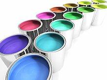 Betonfarbe Bodenfarbe Garagenfarbe Bodenbeschichtung Boden Beton Anstrich Farbe für Innen und Aussen seidenmatt - Tomatenrot 5L