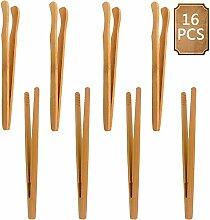 BETOY Küchenzange, 16 Stück Bambus Zange Bambus