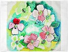 Betsy Drake Blumen Kranz Wand-Außenleuchte