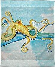 Betsy Drake Octopus Wand-Außenleuchte hängend,