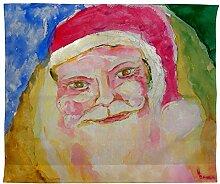 Betsy Drake Santa 's Face Wand-Außenleuchte