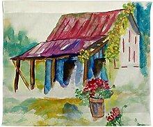 Betsy Drake Stall, Geranien Wand-Außenleuchte