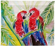 Betsy Drake Zwei Papageien Wand-Außenleuchte