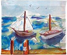 Betsy Drake Zwei Segelboote Wand-Außenleuchte