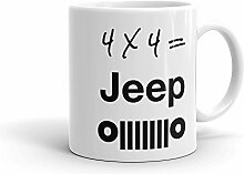 Betsy34Sophia Kaffeetasse 4 x 4 Jeep wei? Keramik