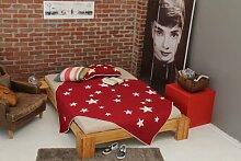 Bett 120x220cm Überlänge, Steckbett metallfrei, Bambus Bett BURMA, Höhe 30cm
