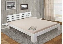 Bett 160x200 cm Kiefer weiß massivholz inklusive