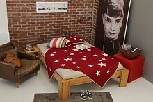 Bett 160x220cm Überlänge, Steckbett metallfrei, Bambus Bett BURMA, Höhe 40cm