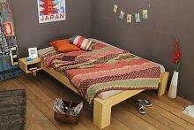 Bett 160x220cm Überlänge, Steckbett metallfrei,